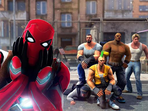 Superhero Ninja Battle: Streets Fighting Robot Socem 25 Screenshots 6
