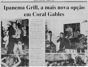 Photo: Grand Openning of Ipanema Grill - Newspaper Article