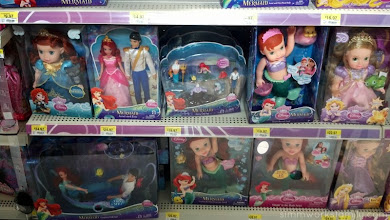 Photo: I was torn between the cute bath friendly dolls and a story gift set with all of the characters from the movie.