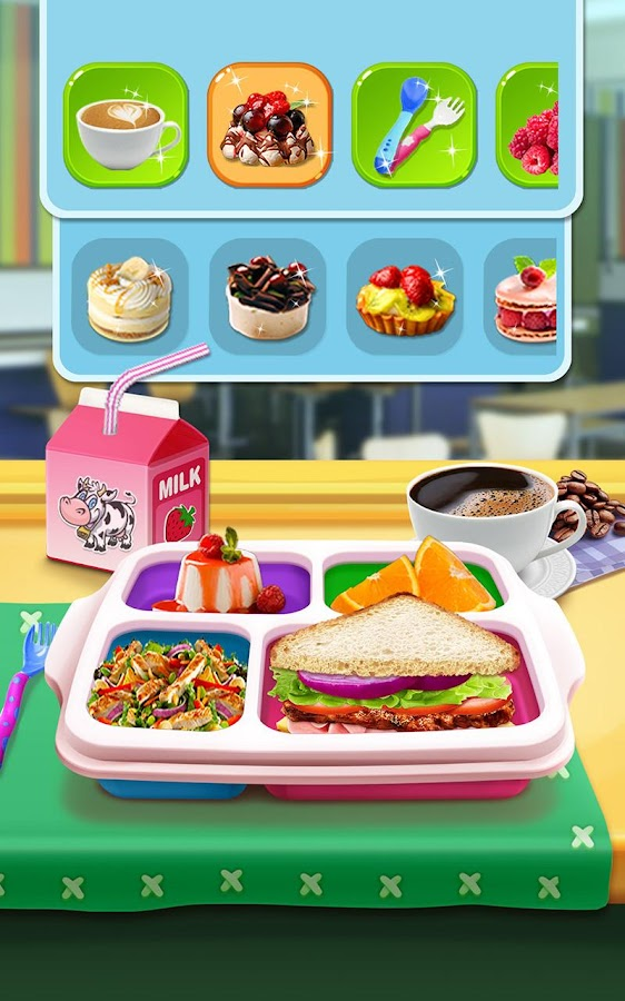 Make lunch box kids food game android apps on google play for Food bar games free online