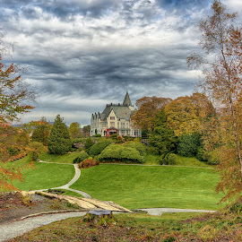 Gamlehaugen by Knut Saglien - City,  Street & Park  Historic Districts ( fall, norway, autumn, royal, bergen )