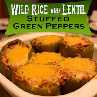 Wild Rice and Lentil Stuffed Green Peppers.