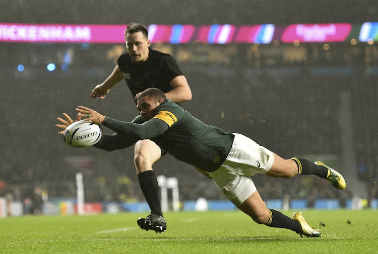 PURSUIT: Bryan Habana in full cry. Picture: REUTERS/TOBY MELVILLE