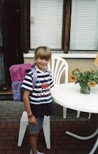 Photo: 1994 - Tiia lähdössä 1. luokalle kouluun