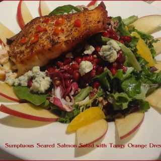 Seared Salmon Salad with Orange Dressing