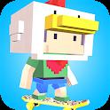 Blocky Skater Pixel Skateboard icon