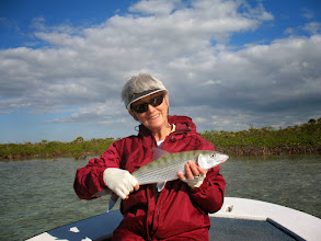 Photo: Jack's girl Sandy- she's a heck of a bonefisher! Fall 2010
