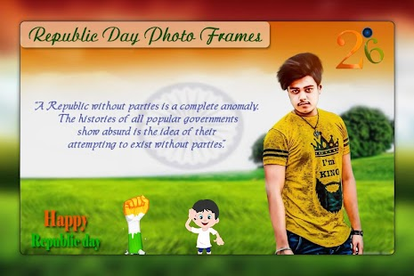 Republic Day Photo Editor : 26th Jan Photo Frame - náhled