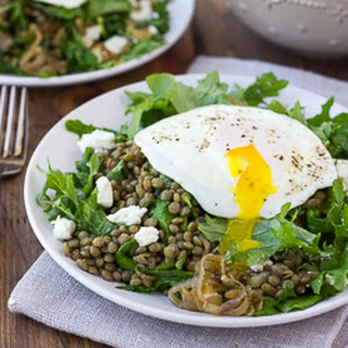 French Lentil Salad with Goat Cheese and Caramelized Shallots {Gluten-Free}.