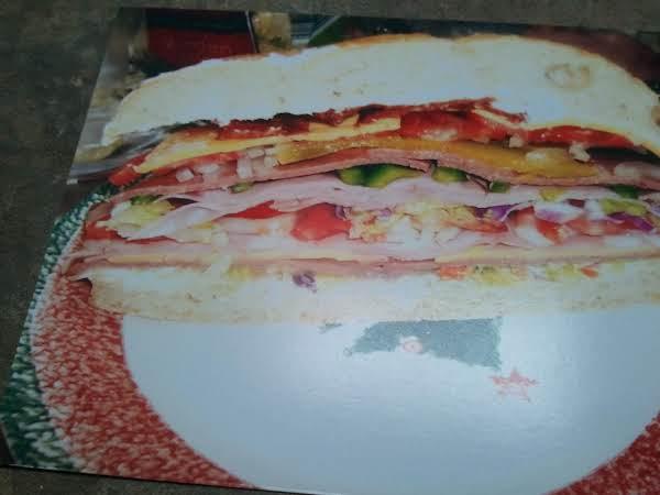 Foccacia Or Vienna Submarine Sandwich