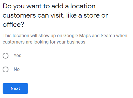 Are you serving customers at your address?
