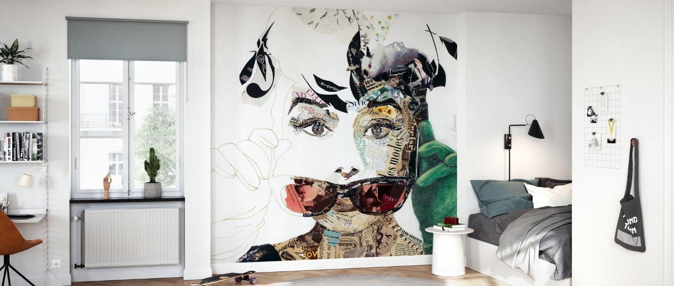papier peint collage industriel bureaux