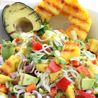 Grilled Pineapple and Avocado Noodles Recipe