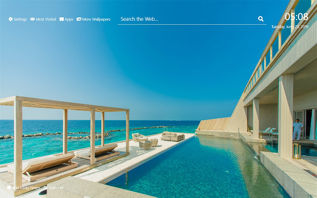 Beach Houses Wallpaper HD New Tab Theme
