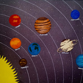 The Solar System by Sangeeta Paul - Painting All Painting