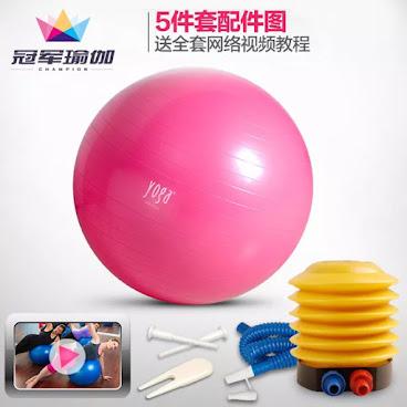 "55/65cm 加厚防爆 Yoga fitball 減肥瘦身適用 ""超抵價發售連氣泵"""