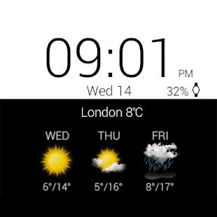 Transparent clock & weather Screenshot 26