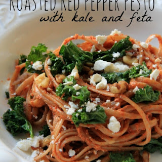 Roasted Red Pepper Pesto with Kale and Feta