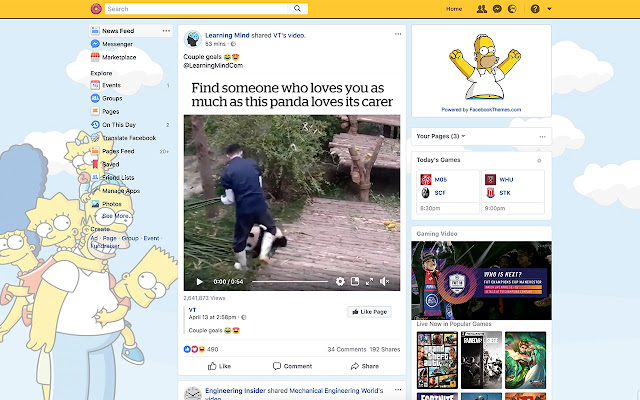 The Simpsons Theme for Facebook