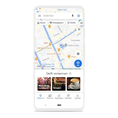 Een telefoon met Maps