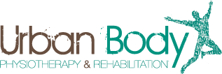 Urban Body physiotherapy and rehabilitation logo for the back pain guide for golfers.