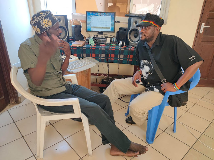 Lolani Kalu in his studio