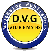 D.V.G  VTU BE MATHS