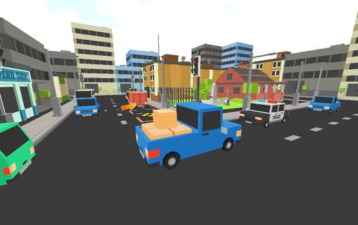 Pixel Cargo Car Speed Parking