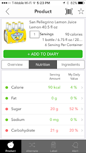 InRFood Tracker screenshot