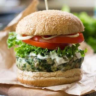Vegan Garlicky Kale Burgers