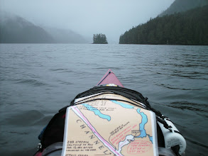 Photo: Heading north up Grenville Channel. The island is near the mouth of Lowe Inlet.