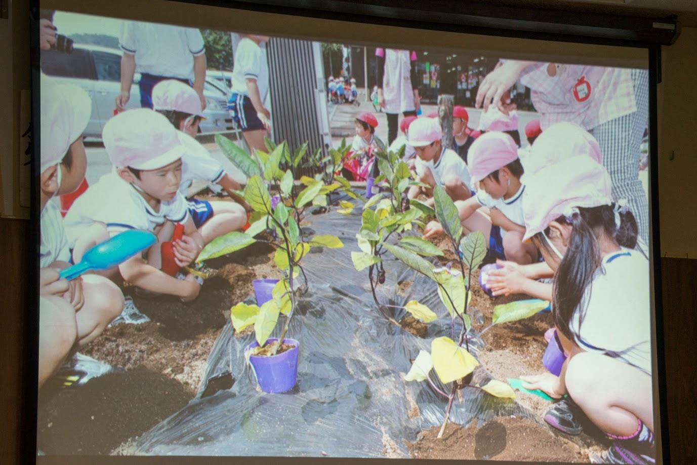 地元保育園との苗植え