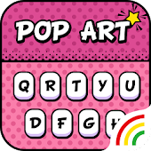 Pop Art Keyboard Theme - Emoji&Gif