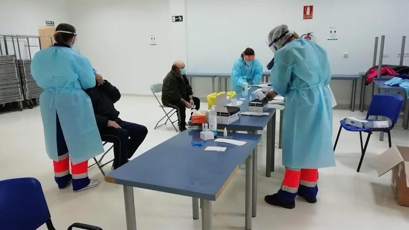 Realización de test de antigenos del Covid-19.