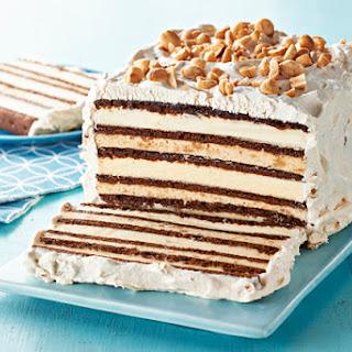 Chocolate-Peanut Butter Ice Cream Sandwich Cake