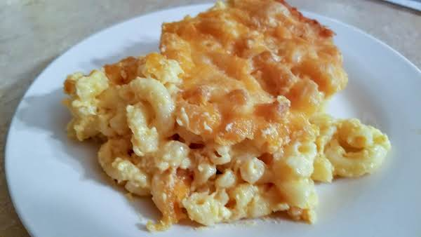 A Serving Of Smoked Macaroni And Cheese On A Plate.