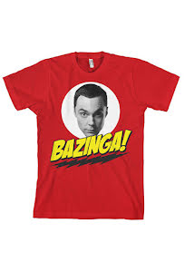 T-shirt, Sheldon says bazinga!