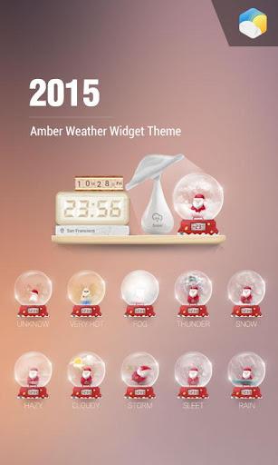 Christmas theme clock widge