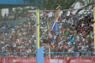 Photo: The progression of a pole vault: Defying gravity