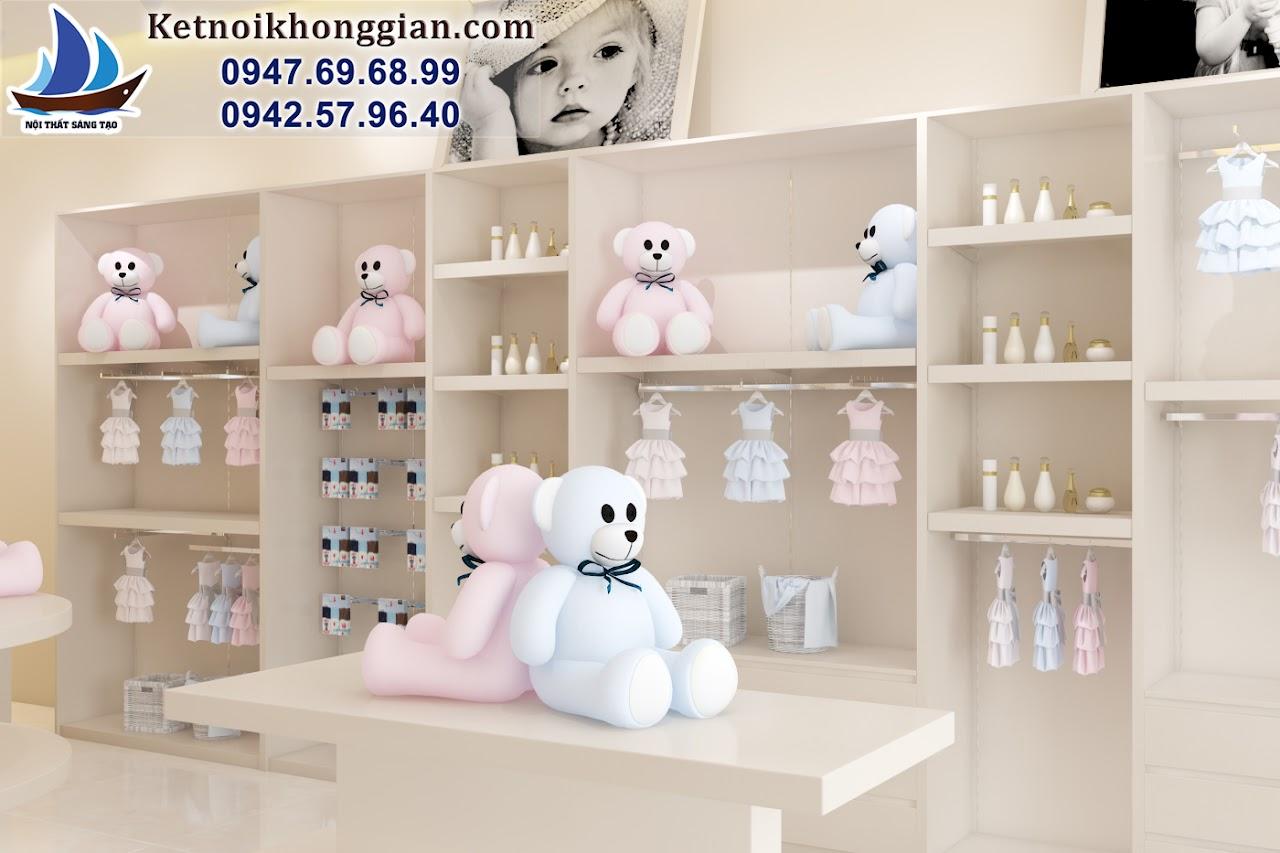 thiết kế shop thời trang trẻ em đẹp nhất miền bắc