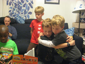 Photo: Grey thanks his brother for the Skylanders