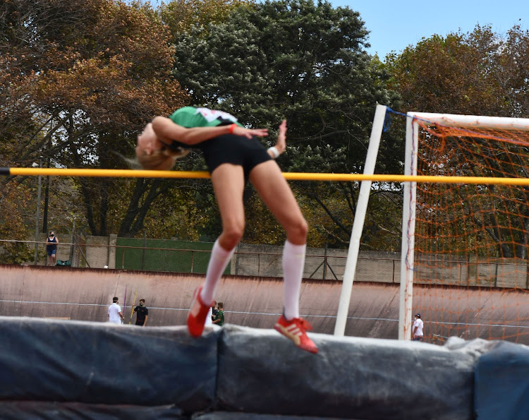 Mari Venter, 17, of Pearson High School, cleared 1.63m in her high jump attempt at the EP Championships at the Westbourne Oval on Saturday