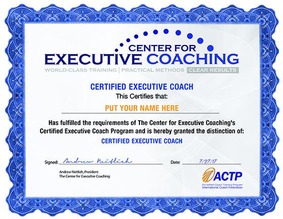 Certified Executive Coach
