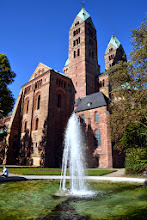 Photo: Speyer Catherdral from behind - consecrated in 1061 and  completed in 1111