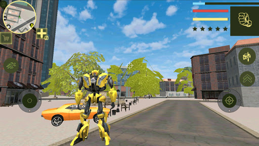 Golden Robot Car Transforme Futuristic Supercar 1.2 1