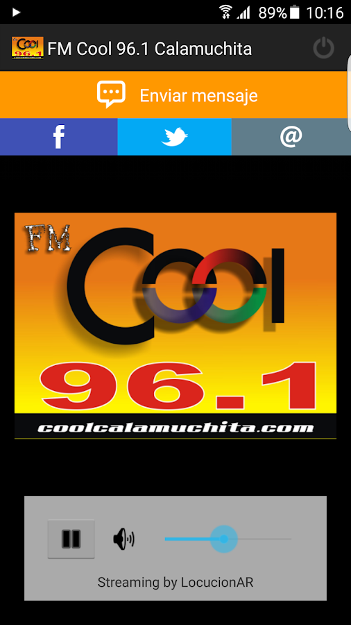 FM Cool 96.1 Calamuchita- screenshot