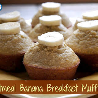 Oatmeal Banana Breakfast Muffins.