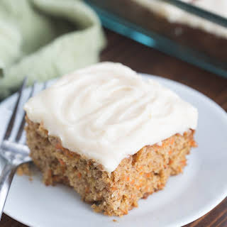 Carrot Cake with Whipped Cream Cheese Frosting.