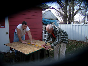 Photo: working on the railroad bench