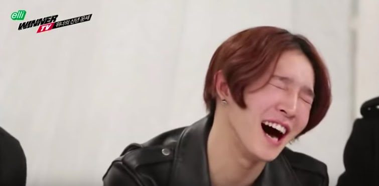 Nam Taehyun laughing